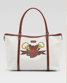 Gucci Tattoo Heart Tote bag