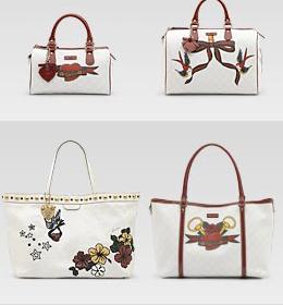 gucci tattoo heart handbags