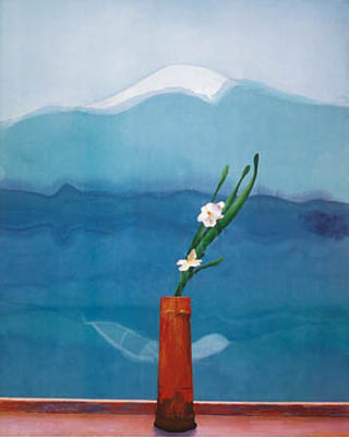 Hockney's Mt. Fuji and Orchid