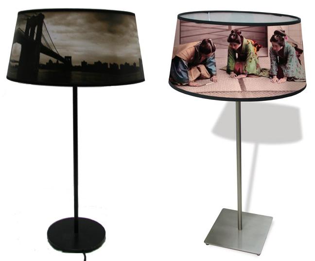 Digitally Printed Home Furnishings - table lamps