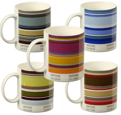 pantone striped mugs