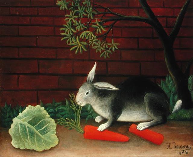 Henri Rousseau rabbit with carrots