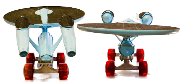 Jeremy and Claire Weiss USS Enterprise Skateboard