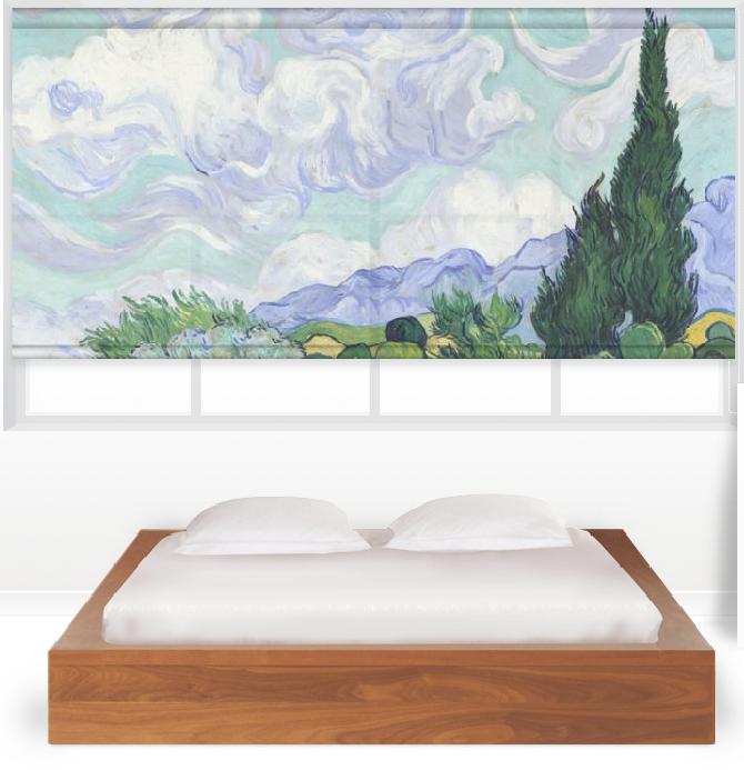 Van Gogh Cypress Window Shade