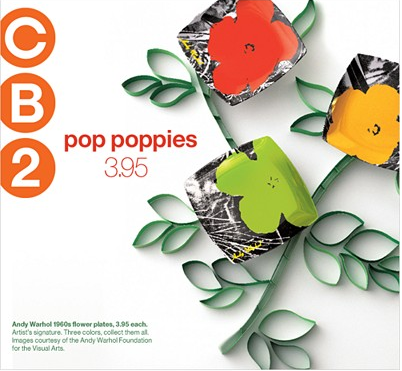 CB2 Warhol inspired collection