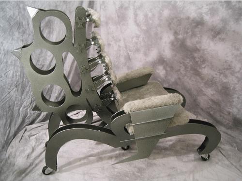 Fist Fire Brass Knuckle Chair