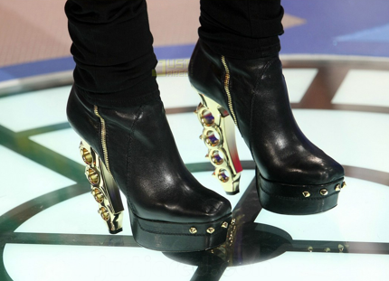 Dsquared brass knuckle heel boots