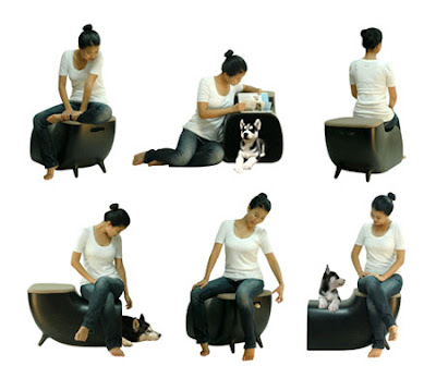 Kim Hyn Joo's Happily Ever After is a chair for humans and home for dogs