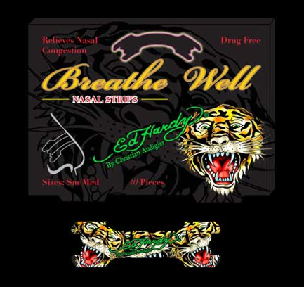 Breathe Well nasal strips from Ed Hardy