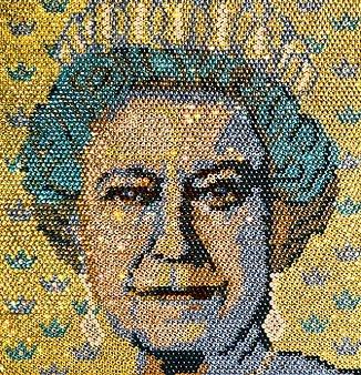 queen elizabeth made with gemstones