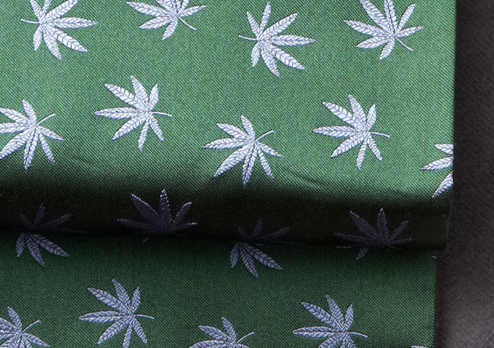 silk marijuana leaf scarf