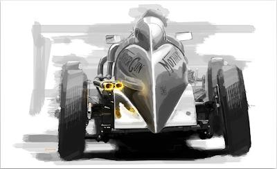 racing car art