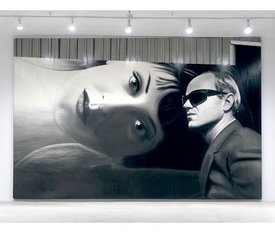Dennis Hopper's James Rosenquist photo as an oil painting, 2003