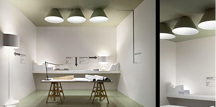 FLOS Soft Architecture displays at the 2010 Salone del Mobile