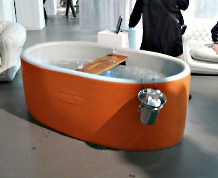 The Bubble Blo New Inflatable Jacuzzi Tub from Blofield  if its hip its here