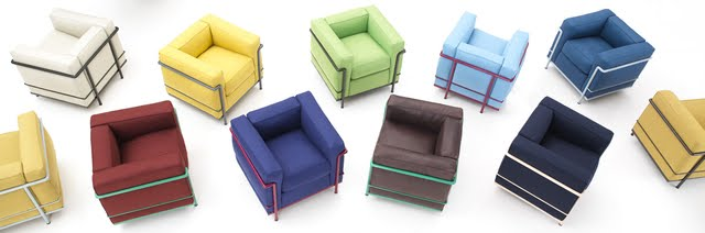 Corbusier chairs in color