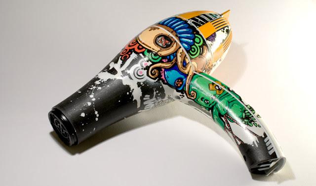 custom graffiti hair dryer
