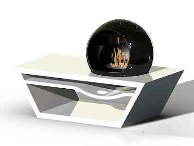 Bulle coffee table fireplace