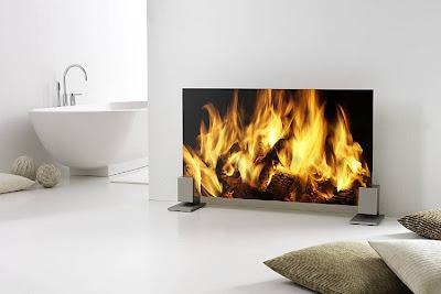 Digitally printed Glass fireplace