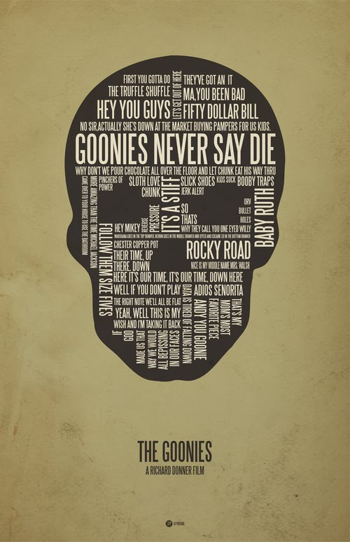 The Goonies typographic poster