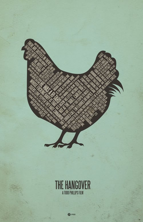 The hangover typographic poster