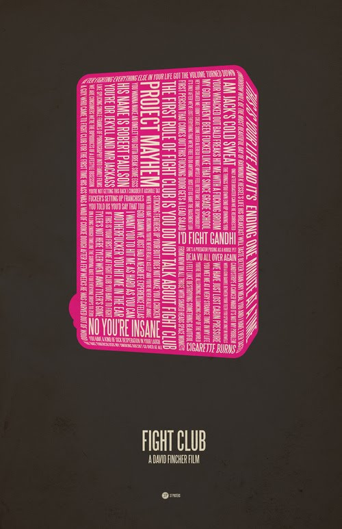 fight club typographic poster