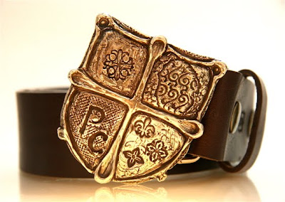 prince charming crest belt buckle