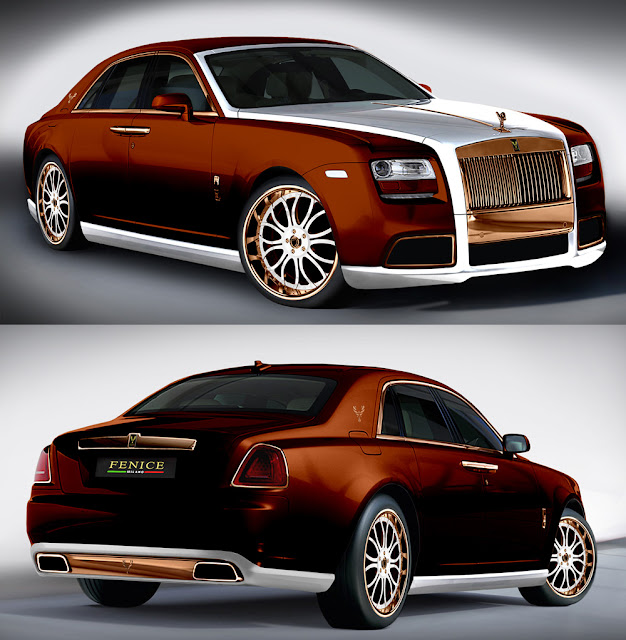 custom bronze rolls royce ghost by Fenice