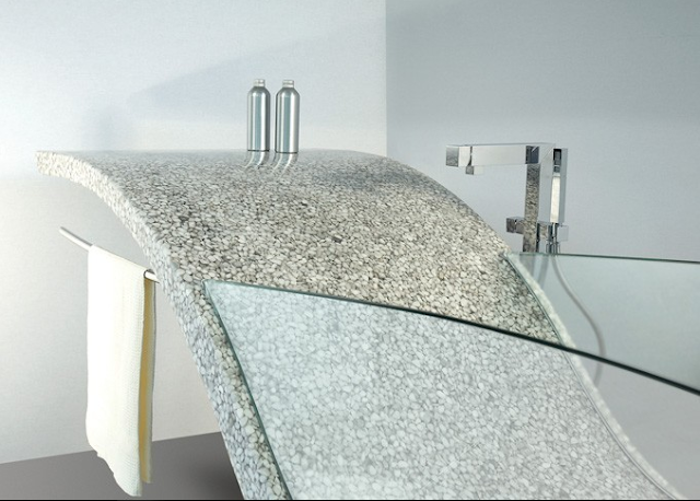 Riverstone Vasca Naturele glass bathtub