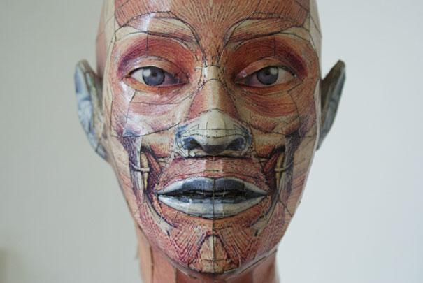 bert simons 3D paper sculptures