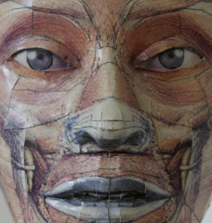 Anatomical head, 2005: sculpture by Bert Simons
