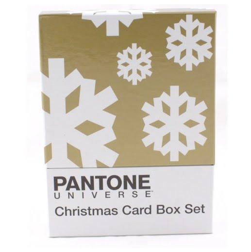 pantone christmas card box set