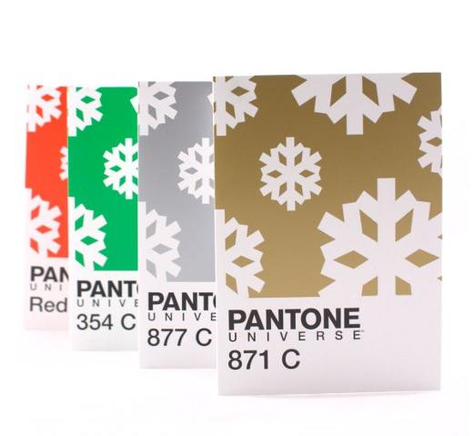 pantone christmas cards