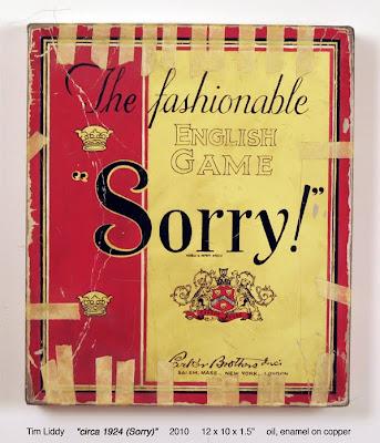 Vintage Sorry board game rendering in oil paint