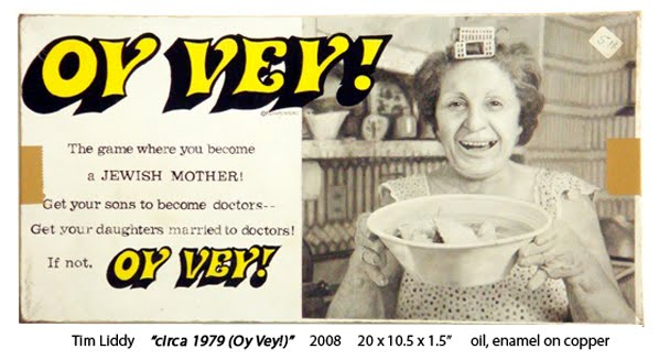 oy vey! board game painted by Tim Liddy