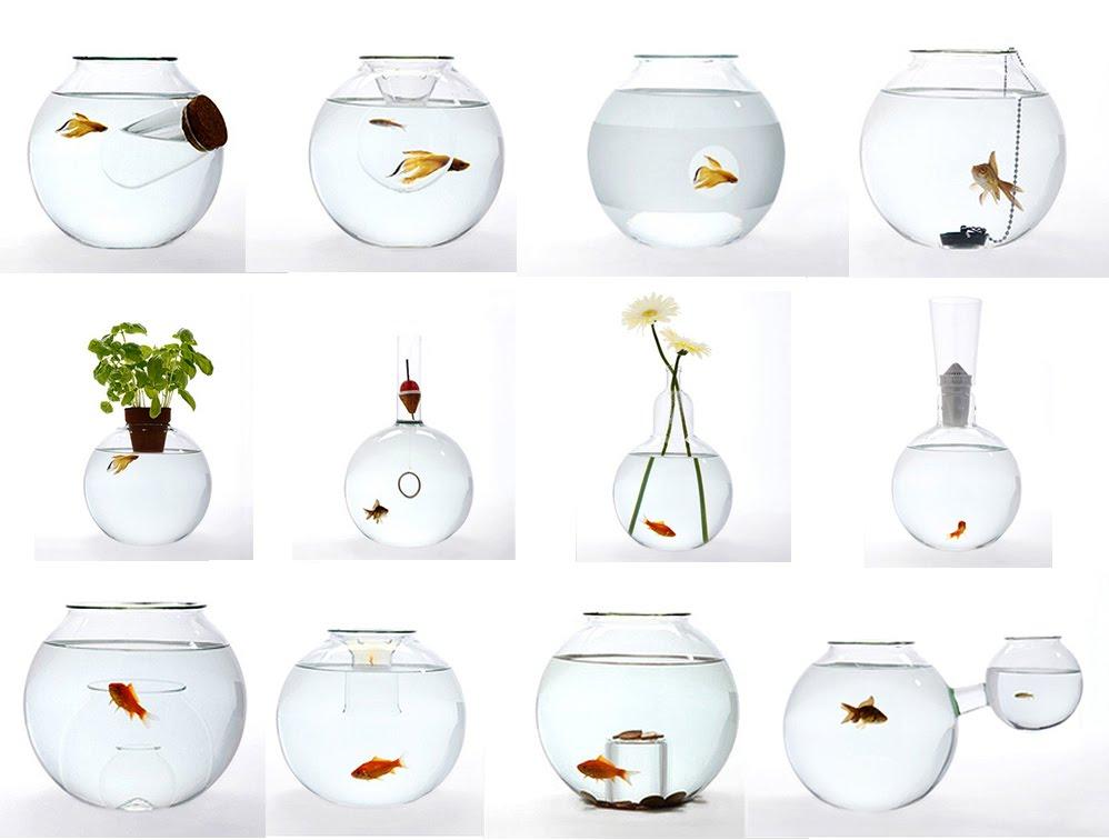 Blown Glass Fish Bowl