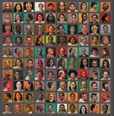 BUST-ED 100 Mug Shot Paintings