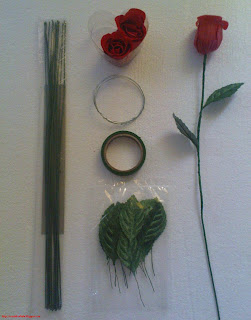 soap flowers | material | Rosidah Abidin