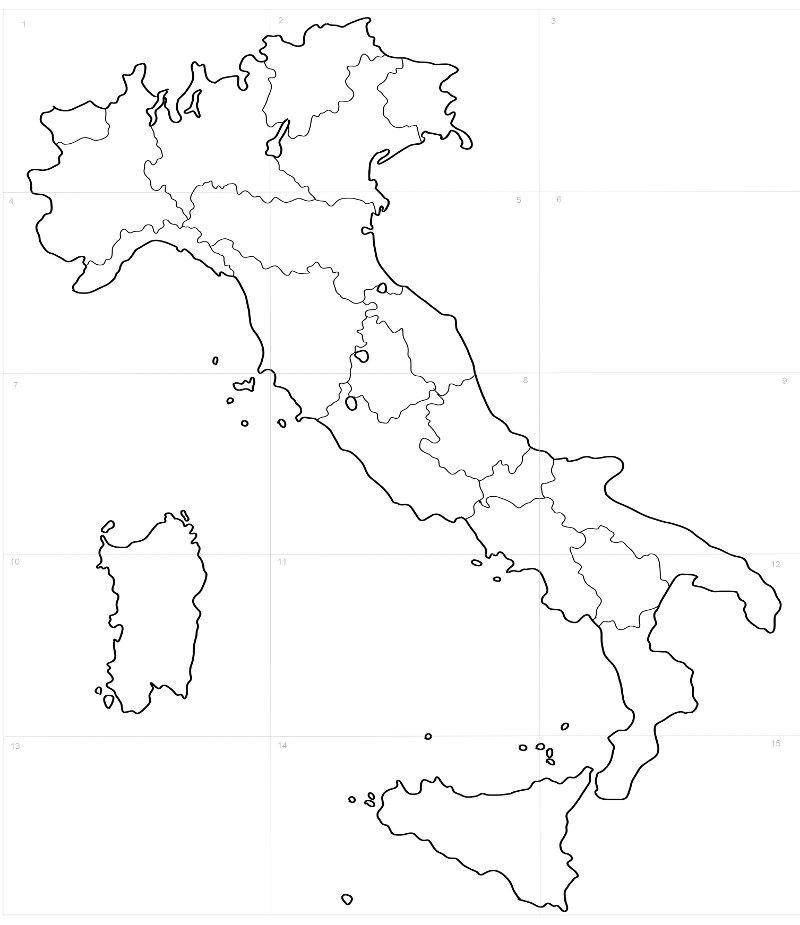 Estremamente Cartina Muta Italia Con Regioni | Siteredevelopment PY63
