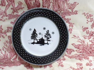 silhouette christmas plates