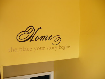 written word wall decal Home the place your story begins