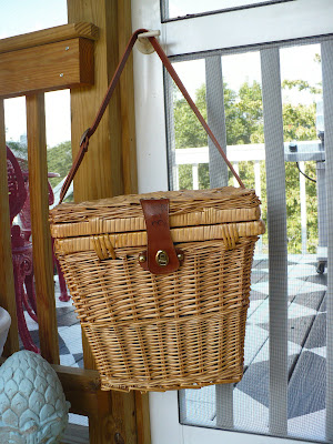 vintage fishing basket