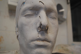 Face Prosthetic: life casting part 2
