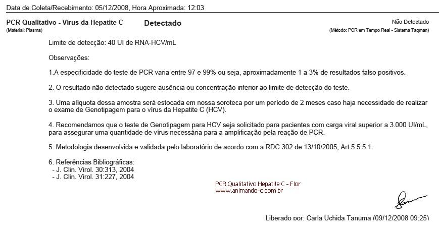 Animando C Anti Hcv Positivo Não Significa Hepatite C Crônica
