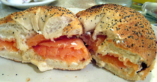 red flame lox bagel