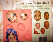 How I paint my clay faces