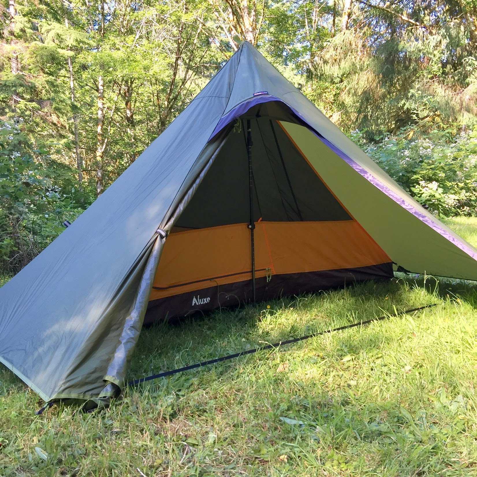 Hexpeak Two Person Teepee with Solo Inner Tent