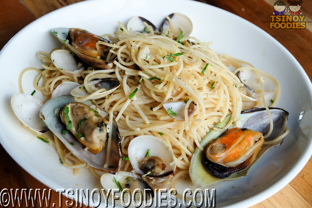 clam and mussel spaghetti