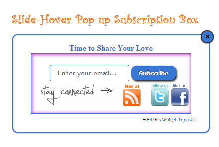 Scrolling Slide-Hover Pop up Subscription Box for Blogger : eAskme