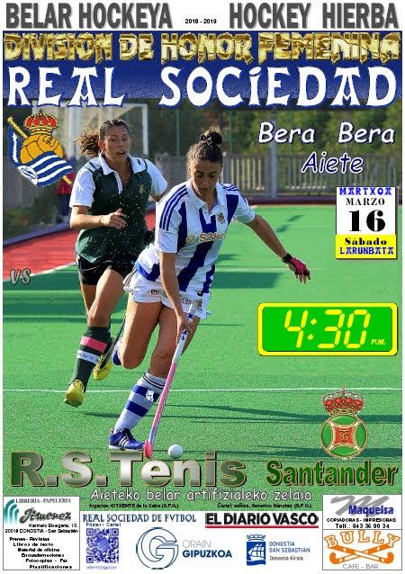 Cartel hockey 2019-03-16 Real Sociedad - R.S. TENIS Santander